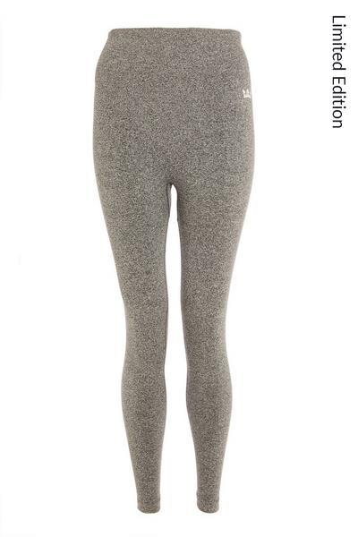 Grey Seamless High Waist Leggings